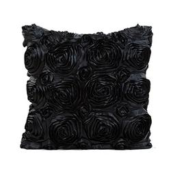 GBSELL Pillow Cover Satin Rose Flower Square Pillow Cushion