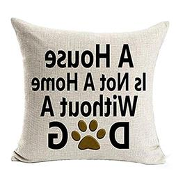 Pillow Cover, Jujunx Best Dog Lover Gifts Cotton Linen Throw