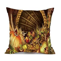 GBSELL Pillow Cover Throw Pillow Case Cafe Home Party Fall C