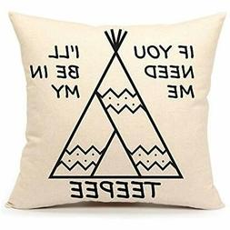 Pillow Covers 4TH Emotion Teepee Throw Case Funny Quotes Cus