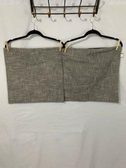 Kevin Textile Pillow Covers Throw Set of 2 Gray/Whiye  NWOT