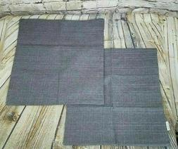 Kevin Textile Pillow Covers Throw Set of 2 Gray/Brown NWOT 1