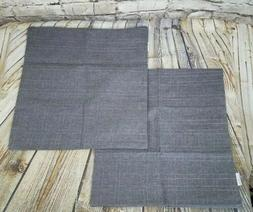 Kevin Textile Pillow Covers Throw Set of 2 Gray/Brown NWOT