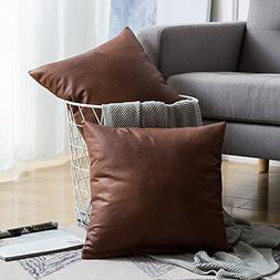 Pillow Throw Cover Leather Pillowcase Square Pillows Luxury