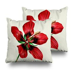 "soopat Pillowcover 16""x16"" Two Sides Printed Soft Cotton Red"