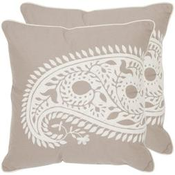 Safavieh Pillows Collection Paisley Decorative Pillow, 20-In