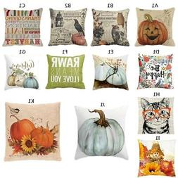 Pillows Cover Fall Decor Halloween Pillow Case Sofa Waist Th