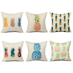 Top Finel Pineapple Throw Pillow Cases Cushion Covers Summer
