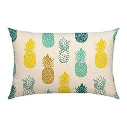 4TH Emotion Pineapples Throw Pillow Cover Summer Beach Decor