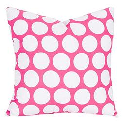 Majestic Home Goods Hot Pink Large Polka Dot Indoor Large Pi