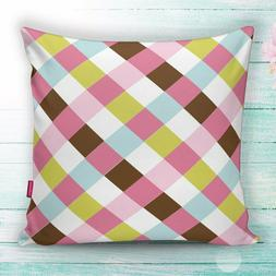 Plaid Checkered Colorful Decorative Throw Pillow Cases Cushi