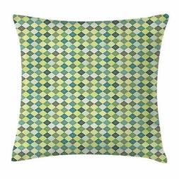 Plaid Throw Pillow Cases Cushion Covers by Ambesonne Home De