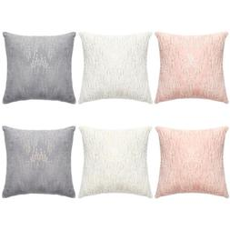 Plush Faux Fur Throw Pillow Covers Case with Sequins for Sof