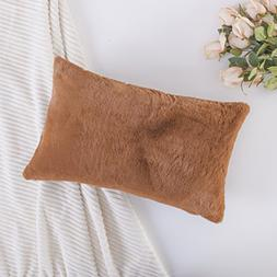 HOME BRILLIANT Plush Fluffy Sheepskin Fur/Suede Oblong Accen