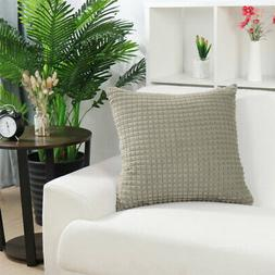 Plush Throw Pillow Cover Fluffy Cushion Cover Couch