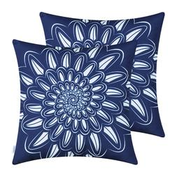 CaliTime Polyester Canvas Throw Pillows Cushion Cover Shell
