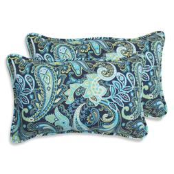 Pillow Perfect Outdoor Pretty Paisley Rectangular Throw Pill