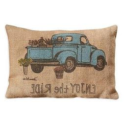 "Country House Collection Primitive Burlap Jute 12"" x 8"" Thro"
