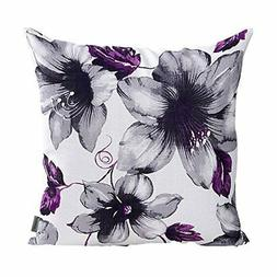 LAZAMYASA Printed Rose Cover Pillows Case Soft Throw Pillow