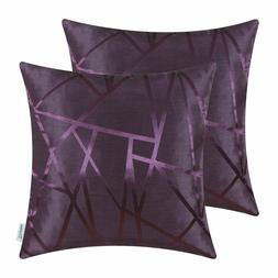 Purple Throw Pillow Covers - Modern Contrast Abstract, Calit
