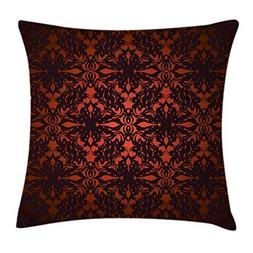 Red and Black Throw Pillow Cushion Cover by Ambesonne, Victo