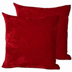 Red Feather Down Filled Decorative Throw Pillows. Beautiful