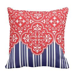 Zazzle Red, White, Blue Pattern Decorative Throw Pillows 16""