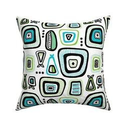 Retro Kitchen Pear Apple Throw Pillow Cover w Optional Inser