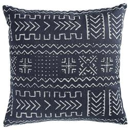 rivet mudcloth inspired pillow 12 x 24