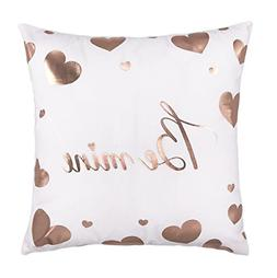 rose gold be mine love heart throw