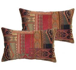 Rustic Throw Pillows Red Rectangle Cushions Modern Home Deco