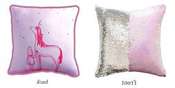 Sequins Throw Pillow Case Cushion Cover Kids Christmas Gift