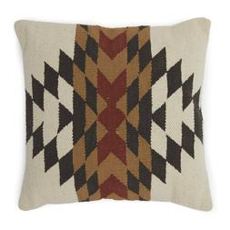 "Set of 2 18"" Brown Earthtone Rustic Western Print Throw Pill"