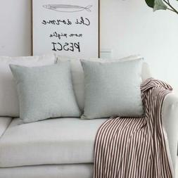 """Home Brilliant Set of 2 Couch Throw Pillows Linen 20""""x20"""", L"""