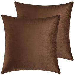 Mixhug Set of 2 Cozy Velvet Square Decorative Throw Pillow C