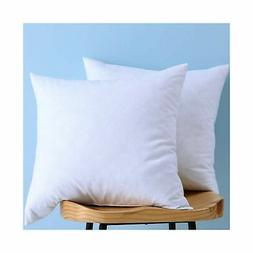 Set of 2, Down and Feather Throw Pillow Insert, Decorative T