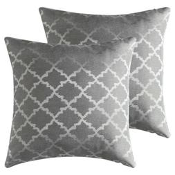 Set of 2 Jacquard Geometric Throw Pillow Case Sofa Waist Cus