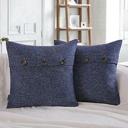 Phantoscope Set of 2 Triple Button Cotton Blend Throw Pillow