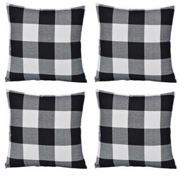 OEXEO Set of 4 Decorative Throw Pillow Covers 18 x 18 Inch S