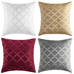 Set of 4 Jacquard Throw Pillow Case Sofa Bed Cushion Cover P
