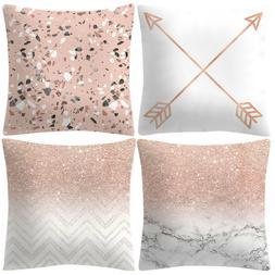 Set of 4 New Living Series Square Throw Pillow Case Cushion