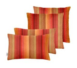 Set of 4 Outdoor Square & Rectangle Throw Pillows Sunbrella