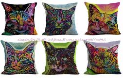set of 6 cats cushion covers cheap pillow covers for throw p
