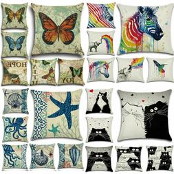 Set of 6 Decorative Cushion Cover Square Throw Pillow Case L