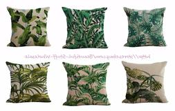 set of 6 garden tropical plant cushion covers cheap for thro