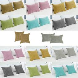 Sets of 2 Throw Pillowcase Cover Soft Warm Fall Cushion Cove