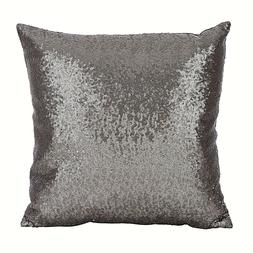 SARO LIFESTYLE Shimmering Sequin Design Poly Filled Throw Pi