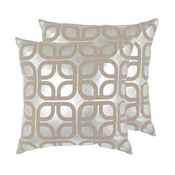 Safavieh Silver Cole Pillow, Set of 2