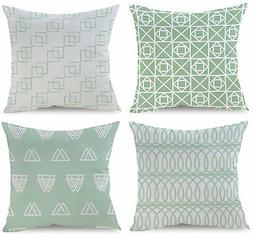 BLUETTEK Simple Decorative Throw Pillow Covers Set of 4 18 x