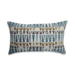 Pillow Perfect Sky Gold/Gray Throw Pillow, Rectangular, Blue